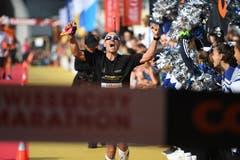 Der Deutsche Kay-Uwe Müller ist Sieger des Swiss City Marathon. (Bild: Corinne Glanzmann , Luzern 27. Oktober 2019)