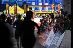 Zieleinlauf beim Verkehrshaus. (Bild: Corinne Glanzmann, Luzern, 27. Oktober 2019)