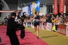 Melina Frei ist Siegerin des Halbmarathon. (Bild: Corinne Glanzmann, Luzern, 27. Oktober 2019)