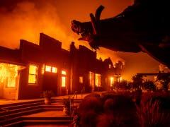 Waldbrände in Kalifornien: Auch Weingüter sind von den Flammen stark betroffen. (Bild: KEYSTONE/FR34727 AP/NOAH BERGER)