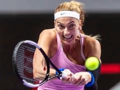 Petra Kvitova machte zwischenzeitlich viel Druck, musste sich aber am Ende erneut geschlagen geben (Bild: KEYSTONE/EPA/ALEX PLAVEVSKI)