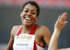 2009: Schweizermeisterschaften ZürichDie 17-jährige Mujinga Kambundji holt sich ihre ersten Schweizermeistertitel über 100 und 200 Meter. Ihre Zeiten damals: 11,66 respektive 23,87 Sekunden. (Bild: Keystone)