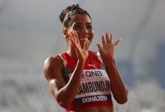 2019: Weltmeisterschaften DohaUnd dann schafft sie es doch noch: Mujinga Kambundji erreicht ihr grosses Ziel an einer WM - sie schafft den Finaleinzug über 200 Meter in beeindruckender Manier. Auf eine Medaille wird aufgrund ihrer Zeit plötzlich immer mehr spekuliert. (Bild: Keystone)