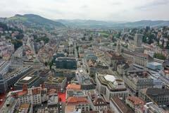 Blick über die Stadt St. Gallen Richtung Westen. (Bild: Josia Zaugg/www.70tageumdiewelt.ch)