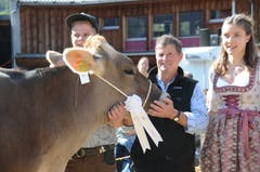 Strahlende Sieger an der Viehschau Wartau.