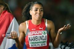 2018: Europameisterschaften BerlinDie Horror-EM! Alles beginnt mit dem Rennen über 100 Meter am 7. August: Mujinga Kambundji verpasst als Vierte eine EM-Medaille nur um sechs Hundertstel. Damit scheint sie sich aber einigermassen abfinden zu können und deutet an: Was willst du da machen? (Bild: Keystone)