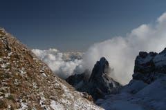 Altenalptürme im Kampf gegen die Wolken. (Bild: Heinz Weber)