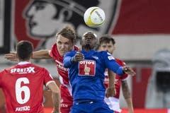 Luzerns Blessing Eleke im Meisterschaftsspiel gegen den FC Thun. (Bild: KEYSTONE/Peter Schneider)