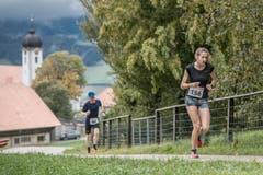 Sieger bei den Frauen: Paula Gross aus Richterswil. (Bild: Pius Amrein, 6. Oktober 2019)