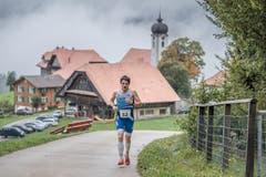 Philipp Arnold aus Cham, der spätere Sieger bei den Herren. (Bild: Pius Amrein, 6. Oktober 2019)