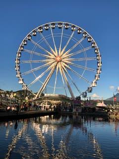Das Riesenrad der Herbstmesse in Luzern. (Bild: Sabine Ittig)