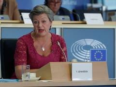 Auch die designierte Innenkommissarin Ylva Johansson aus Schweden bekam grünes Licht vom EU-Parlament. (Bild: KEYSTONE/EPA/OLIVIER HOSLET)
