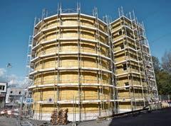 Der Neu- und Umbau der Faulungs- und Gasanlage der ARA Buchs ist auf Kurs. Bilder: Heini Schwendener