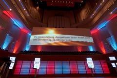 «Perspektiven 2020»: Im KKL Luzern drehte sich am Donnerstagabend alles um die Zentralschweizer Wirtschaft. Die besten Impressionen. (Bild: PD, Luzern, 31. Oktober 2019)