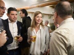 Frischgebackene Ständerätin: Die Freisinnige Johanna Gapany hat den bisherigen CVP-Ständerat Beat Vonlanthen aus dem Amt geworfen. (Bild: KEYSTONE/ANTHONY ANEX)