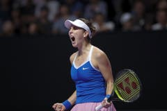 Trotz der Aufgabe in Shenzhen kann Belinda Bencic auf eine erfreuliche Saison zurückblicken. (Bild: Keystone)