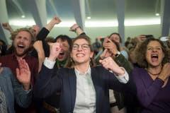 Franziska Ryser (28) freute sich am 20.Oktober über ihre Wahl in den Nationalrat. Sie präsidierte die Jungen Grünen St. Gallen und das St. Galler Stadtparlament (Bild: Benjamin Manser)