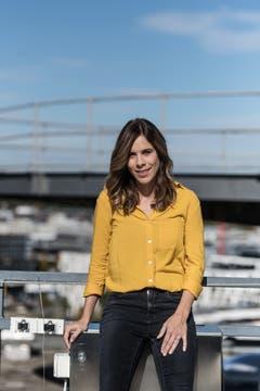 SRF-Sportmoderatorin Sibylle Eberle beim Fotoshooting im Leutschenbach. (Bild: Michel Canonica)