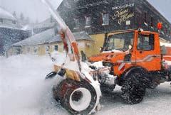 Und für starken Schneefall. (Bild: Keystone)