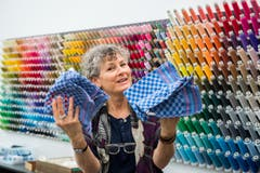 Tina Moor, Leiterin Bachelor Textildesign an der Hochschule für Design und Kunst in der Viscosistadt in Emmenbrücke. (Freie Fotografin/Eveline Beerkircher)