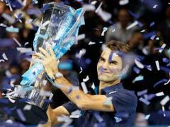 Mit sechs Triumphen, letztmals 2011, ist Roger Federer Rekordsieger der ATP Finals (Bild: KEYSTONE/AP/KIRSTY WIGGLESWORTH)