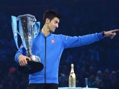 Gleich dahinter folgt mit fünf Titeln, letztmals 2015, Novak Djokovic (Bild: KEYSTONE/EPA/ANDY RAIN)