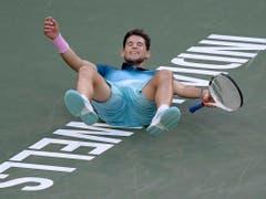 Erster Gegner von Roger Federer ist am Sonntagabend Dominic Thiem, der ihm im Final von Indian Wells eine schmerzliche Niederlage zufügte (Bild: KEYSTONE/AP/MARK J. TERRILL)