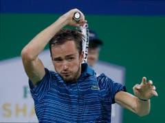 Der grosse Aufsteiger des Jahres: Der Russe Daniil Medwedew ist erstmals an den ATP Finals dabei (Bild: KEYSTONE/AP/ANDY WONG)