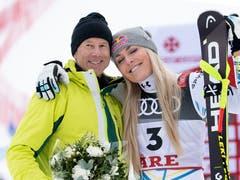 Lindsey Vonn mit Skilegende Ingemar Stenmark. (Bild: Marco Trovati / AP)