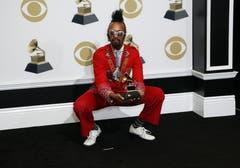 Fantastic Negrito mit dem Grammy für das beste Contemporary-Blues-Album. (Bild: John G. Mabanglo (Los Angeles, 10. Februar 2019))