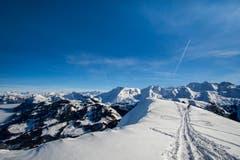 Grandiose Fernsicht auf dem Buochserhorn. (Bild: Vinzenz Blum, 6. Februar 2019)