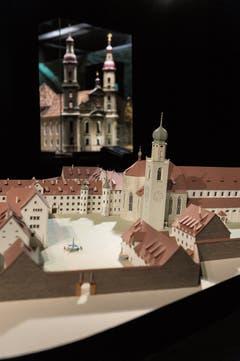 Das St.Galler Klosterbezirk um das Jahr 1750.