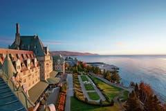 Hier sassen die G7-Staats- und Regierungschefs zusammen: Schlosshotel Fairmont Le Manoir Richelieu. Es liegt zwischen Meer und Bergen in La Malbaie in der Provinz Quebec. (Bild: Chris Sanchez)