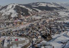 Blick über Wattwil von der Iburg aus. (Bild: Renato Maciariello)