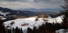 Lichtblicke über dem winterlich trüben Rheintal. (Bild: Klaus Businger)