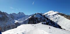 Der Alpstein im Winterglanz bei der Ebenalp. (Bild: Klaus Businger)