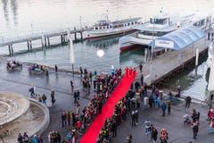 Im Bild ist der Rote Teppich auf dem Europaplatz. (Bild: Roger Grütter (Luzern, 16. Februar 2019))