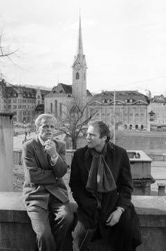 Klaus Kinski und Bruno Ganz in Zürich. (Bild: Keystone)