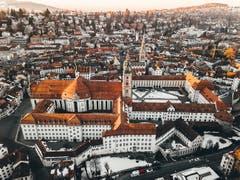 Blick auf den Stiftsbezirk St. Gallen. (Bild: Marc Bollhalder)
