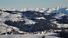 Was für eine Sicht vom Lutzenland: über Stein weit hinaus in die Vorarlberger Berge! (Bild: Hanspeter Berger)
