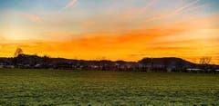 Sonnenuntergang in Wikon. (Bild: Stéphanie Artho, Wikon, 18. Februar 2019)