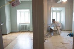 Im Südtrakt, wo bald die Schwestern aus Sarnen wohnen werden, finden noch letzte Arbeiten statt.