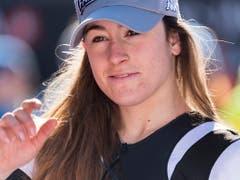 Sofia Goggia erringt ihren ersten Weltcupsieg nach ihrem Knöchelbruch - den sechsten insgesamt (Bild: KEYSTONE/ALESSANDRO DELLA VALLE)