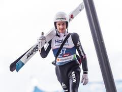 Mit Platz 15 nicht ganz zufrieden: Simon Ammann (Bild: KEYSTONE/APA/APA/EXPA/JFK)