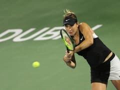 Belinda Bencic feiert ihren dritten WTA-Titel (Bild: KEYSTONE/AP/KAMRAN JEBREILI)