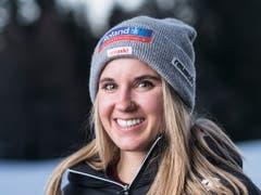 Joana Hählen darf sich über den ersten Podestplatz ihrer Karriere freuen (Bild: KEYSTONE/ALESSANDRO DELLA VALLE)