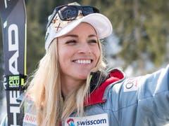 Lara Gut-Behrami erstmals in dieser Saison auch in einer Abfahrt auf dem Podium (Bild: KEYSTONE/ALESSANDRO DELLA VALLE)
