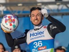 Der erlösende Jubel: Killian Peier gewinnt von der Grossschanze in Innsbruck WM-Bronze (Bild: KEYSTONE/EPA/CHRISTIAN BRUNA)