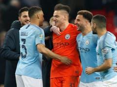 Held des Ligacups wurde dann aber der Keeper von Manchester City: Ederson hielt zwei Penaltys (Bild: KEYSTONE/AP/ALASTAIR GRANT)