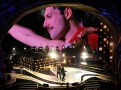 Die legendäre Band Queen hat zur Eröffnung der 91. Oscar-Verleihung auf der Bühne gespielt. (Bild: KEYSTONE/AP Invision/CHRIS PIZZELLO)
